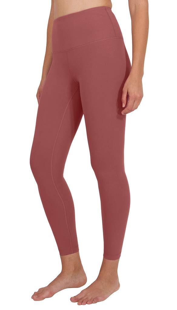 90 Degree By Reflex High Waist Power Flex Legging - Tummy Control - Coral Sand Ankle - XS