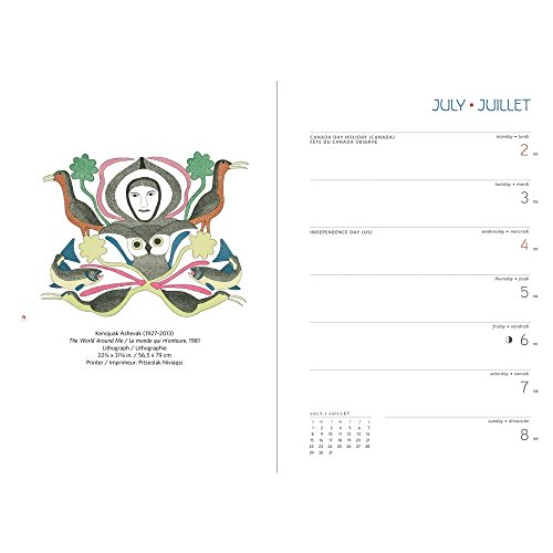Inuit Art Cape Dorset 2018 Engagement Planner Calendar Photo #3