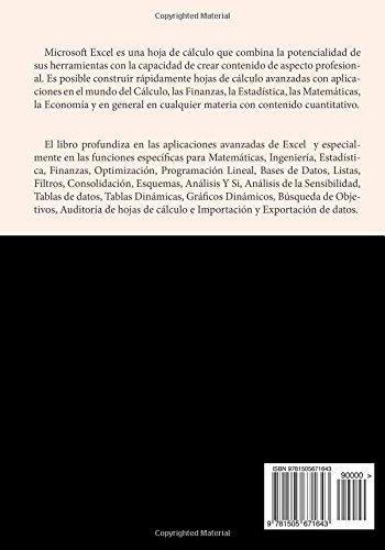 Amazon.fr - EXCEL AVANZADO. Ejercicios resueltos - P. Vidales - Livres
