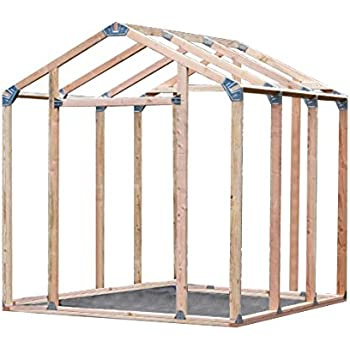 Amazon.com : EZ Shed 70187 Peak Style Instant Framing Kit : Garden ...