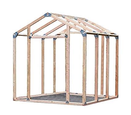 Amazon.com : EZ Shed 70187 Peak Style Instant Framing Kit : Garden ...