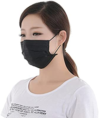 black disposable medical mask