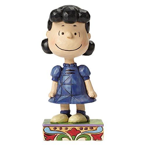 Jim Shore for Enesco Peanuts Lucy Personality Pose Figurine, 4.75