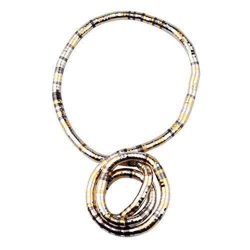 GVUSMIL Bendable Snake Twistable Necklace Bracelet Scarf Holder (Multi Color, 8mm)