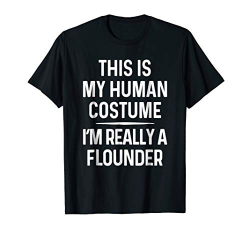 Funny Flounder Costume Shirt Halloween Flounder -