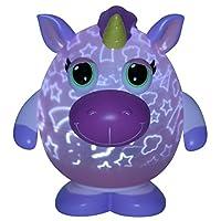 "Playbrites 10"" Unicorn Light Show Night Light Toy with 9pc Magic Fun Face Int..."