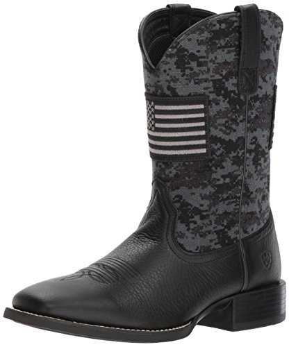 Ariat Men's Sport Patriot Western Boot, Deer tan/Black camo Print, 13 E US