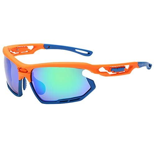 Polarized Sports Sunglasses with Interchangeable Lenes for Men Women Cycling Running Driving Fishing Golf Baseball Glasses ()