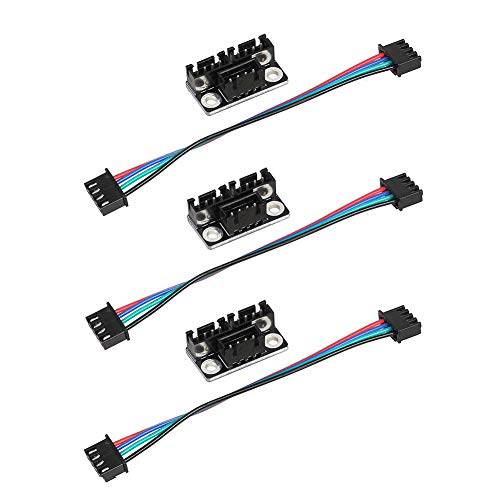 Parallel Module - Onyehn 3D Printer Stepper Motor Parallel Module with W Cable for Dual Z Stepping Motors Reprap Prusa Lerdge 3D Printer Board (Pack of 3pcs)
