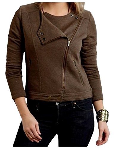 (French Terry Cropped Moto Jacket Stetson Ladies Collection- Fal (m) 11-096-0514-0601BR)