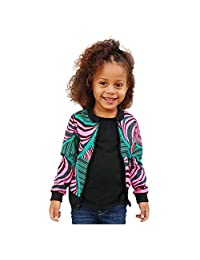 WOCACHI Unisex Kids African Jackets, Little Girls Boys Boho Dashiki Outerwear