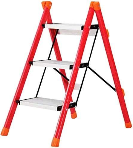 NYDZDM Plegable de Aluminio Multi Propósito Plataforma de Trabajo heces Banco Escalera Trabajo - Ligero y portátil/fácil de Limpiar y Libre de oxidación (Color : Red): Amazon.es: Hogar