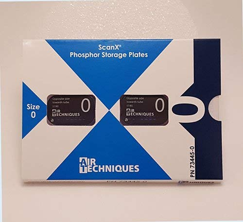 AIR TECHNIQUES ScanX Intraoral Phosphor Plates Size 0, 2/pk #73445-0 by Air Techniques