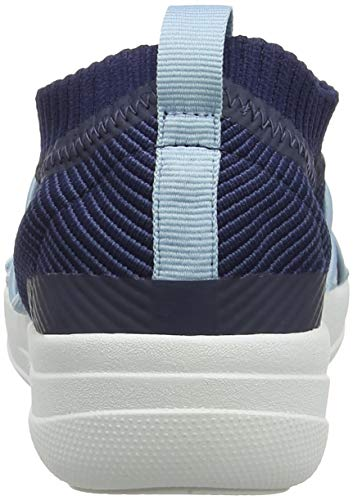 Blau Hohe 443 Blue Damen Slip Uberknit Royal FitFlop Ghillie on Mix Sneakers Sneaker FHW8ncvA