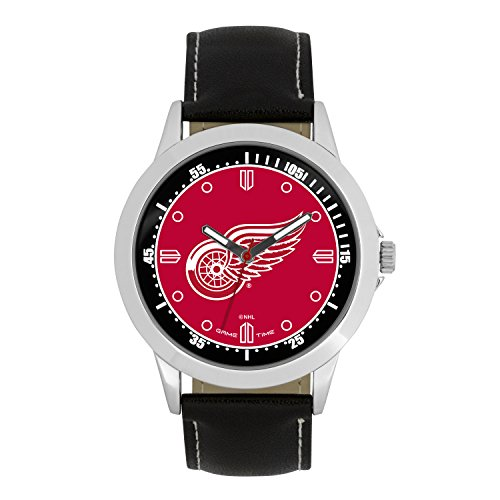 NHL Detroit Red Wings Mens Player Series Wrist Watch, Silver, One Size