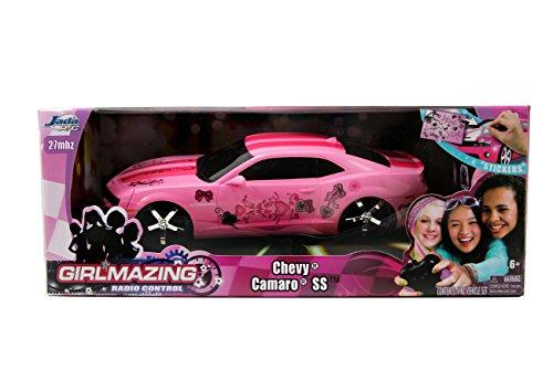 Jada Toys GirlMazing R/C 2010 Camaro SS Vehicle , Light Pink