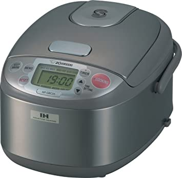 Zojirushi NP-GBC05 3-Cup Uncooked Rice Cooker and Warmer with Induction Heating System