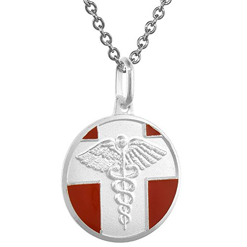 Sterling Silver Medical Alert Necklace