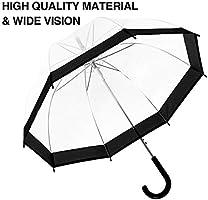 ee5e9e2f4dae FILWO Clear Umbrella, Bubble Umbrella for Women Clear Umbrella Dome for  Kids Dome Umbrella for Adults