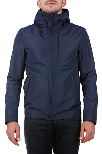 Woolrich Uomo 3989 Blu Cappotto Blue melton 00r8Owq