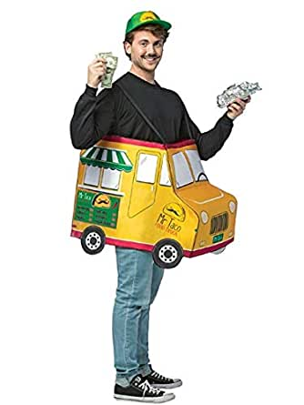Rasta Imposta Adult Mr. Taco Food Truck Costume, Yellow/Green, One Size