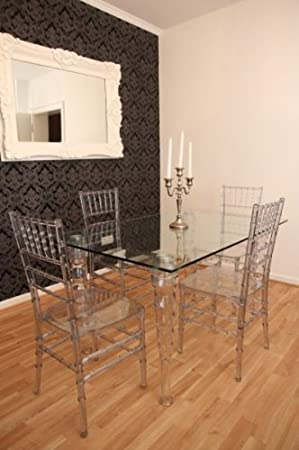 Designer acrylic dining room set Ghost Chair Table
