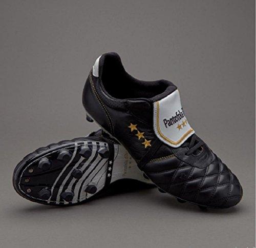Pantofola de Botas para Mujer Piel de D'oro fútbol Negro rxwTnr4