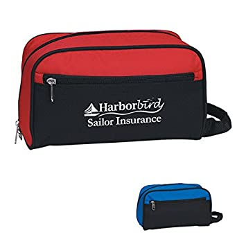 Amazon.com  Toiletry Bag - 50 Quantity - PROMOTIONAL PRODUCT   BULK    BRANDED with YOUR LOGO   CUSTOMIZED - Kineticpromos  314 (Red)  Beauty e87636d763c01