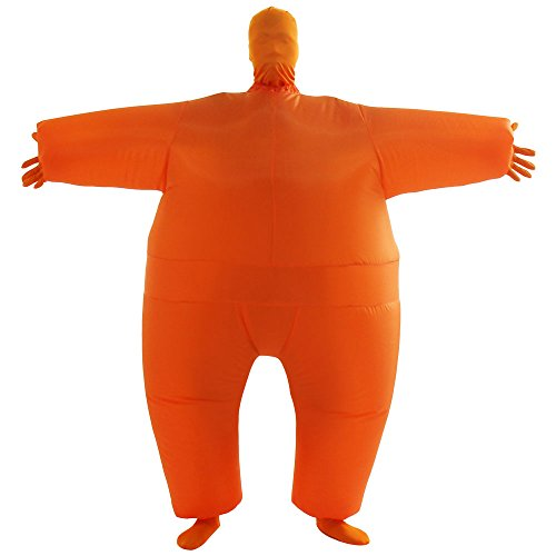 VOCOO Lnflatable Costumes Adult Size Inflatable Body Suits Pants (Orange)]()