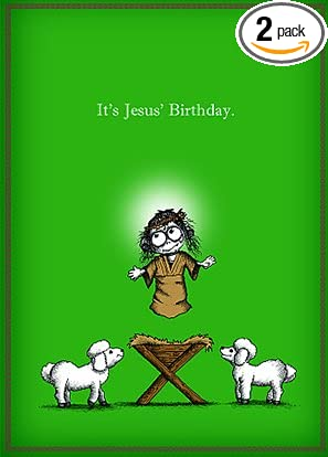 Amazon its jesus birthday by bald guy greetings 8 cards quotits jesus birthdayquot by bald guy greetings 8 cards bookmarktalkfo Image collections