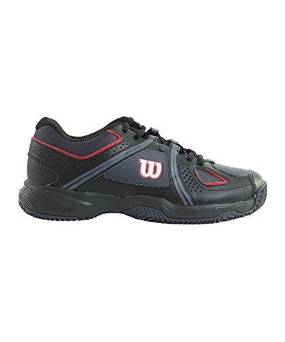 Wilson Wrs321700e105, Chaussures de Tennis Homme, Multicolore (Multicolor / Coal Wil / Black / Wilson Red Wil), 45 1/3 EU