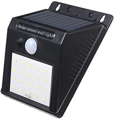 Baugger ソーラーパワードエネルギー20 LEDウォールランプ光誘導/ PIRモーションハンマー誘導センサーIP65耐水白パティオガーデンヤードコートヤードポータブル
