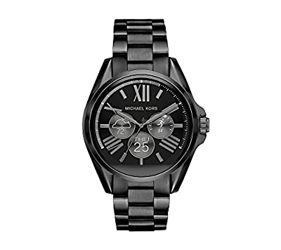 Michael Kors Access Unisex 45mm Black IP Bradshaw Chronograph Smart Watch