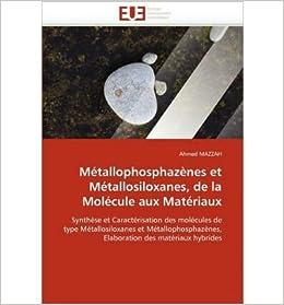Book Metallophosphazenes Et Metallosiloxanes, de La Molecule Aux Materiaux (Paperback)(French) - Common