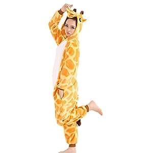 Jysport - Pijama de unicornio, unisex, con capucha de forro polar, disfraz cosplay, jirafa