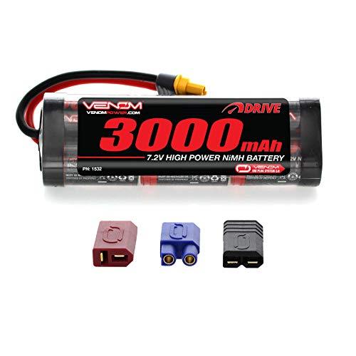 Venom 7.2V 3000mAh 6-Cell NiMH Battery with Universal Plug 2.0 (Traxxas / Deans / EC3) (Nimh Rc Battery)