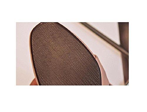 Quadrato donne fibbia scarpe singolo genuino in pelle libero Slip retrò su scarpe piatte , 34