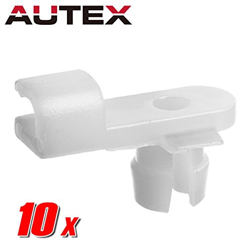 AUTEX 10pcs Right Side Door Lock Outer Handle Front Door Lining Door Locks Fastener Rivet Push Clips Retainer Nut Replacement for Honda Accord Civic Accord Crosstour Odyssey Ridgeline