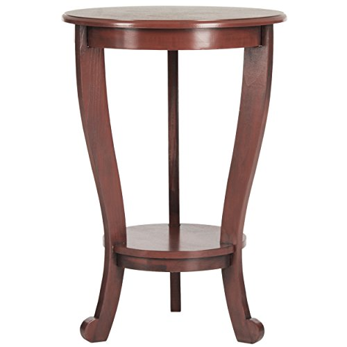 Safavieh American Home Collection Pedestal Side Table, Red (Pine Side Table)
