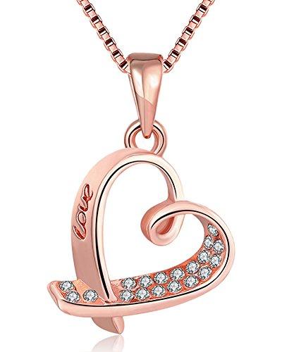 zirconia necklace,charm chain necklace_women necklace_ladies necklace_nickel free necklace hypoallergenic jewelry