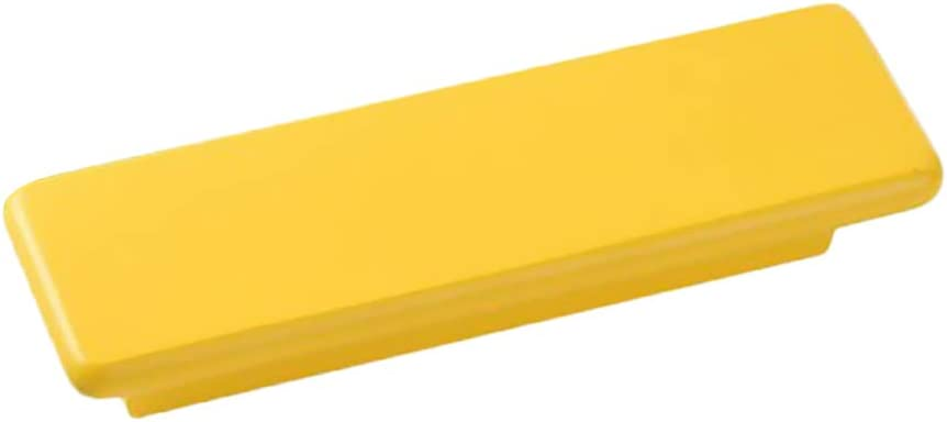 Tirador de Puerta Perilla de Armario Tir/ón de Muebles de Madera Maciza Cuadrado para Hogar Oficina amarillo