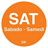 DayMark 1100596 Trilingual 3/4'' Saturday Day Circle - 2000 / RL