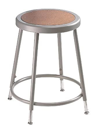 National Public Seating 6218H Grey Steel Stool with Hardboard Seat Adjustable 19u0026quot;-27u0026quot  sc 1 st  Amazon.com & Amazon.com: National Public Seating 6218H Grey Steel Stool with ... islam-shia.org