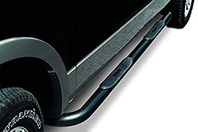 Big Country Truck Accessories 370201 3 in. Round Classic Side Bars; Black Powder Coat; Cab Length; Incl. Brackets;