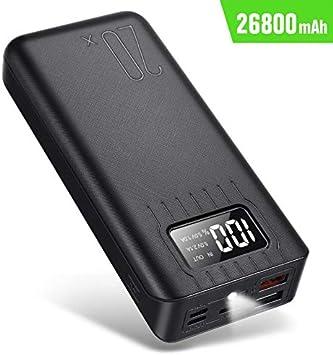 Smtqa Cargador portátil de 26000 mAh (con Pantalla Digital LED ...