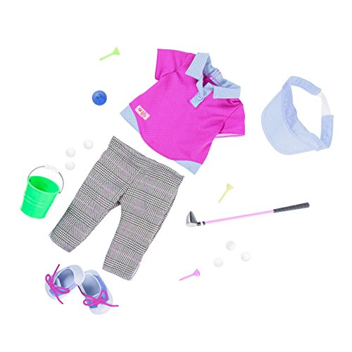 """Battat Our Generation Deluxe 18"""" Golfing Outfit"""