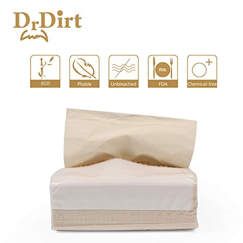 Dr.Dirt Bamboo Facial Tissue Bulk 27 Pack Eco Dispenser Wall Mounted 3 Ply 110 Count Individual Travel Packs Bulk with 3 Box Cover Holder by Dr. Dirt (Image #1)