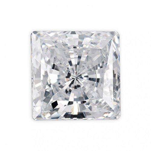 Mughal Gems & Jewellery White Cubic Zirconia AAA Quality Diamond Cut Square Shape Loose Gemstone (2.5x2.5 mm & 100 Pcs)