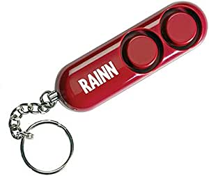 SABRE PA-RAINN-01 Personal Self-Defense Safety Alarm on Key Ring w/ LOUD Dual Alarm Siren Heard up to 600 Ft/185M Away. To Use, Pull Metal Chain from Base, Red (Rape, Abuse & Incest National Network)
