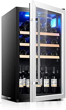 WANGLX 飲料冷蔵庫やクーラー - ガラスドアとLEDブルーライトと40dBの、160L、ワインのコレクションのための大規模な飲料冷蔵庫クーラー、